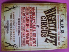 Nightlife circus: Sterk> Opvallende lay-out. Zwak> Middelste tekst onoverzichtelijk.