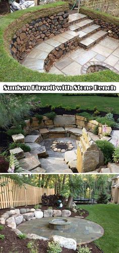 Marvelous Backyard Fire Pit Marvelous Backyard Fire Pit Ideas backyardfirepits firepitideas great DIY ideas to cheaply build a nice fireplace from a few paving stones CooleTipps.deHaving a fireplace in the garden is Diy Fire Pit, Fire Pit Backyard, Backyard Patio, Backyard Landscaping, Outdoor Pool, Backyard Seating, Landscaping Ideas, Outdoor Seating, Pergola Ideas