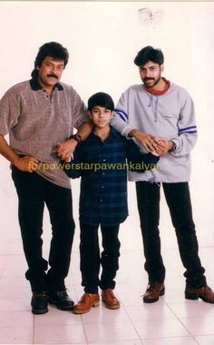 A Rare Snap of Chiranjeevi and Pawan Kalyan with Little Megapowerstar Charan