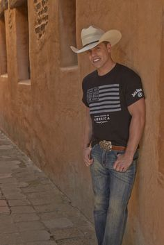 Here's looking at you @dustinlynchmusic in your Jack Daniel's tee! You will be the envy of Jack Daniel's fanatics around in this stylish shirt. #country #concert #tee