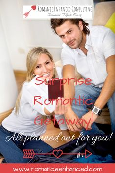 Wouldn't it be nice for your next anniversary or romantic getaway to be able to just sit back and relax and enjoy the romantic getaway together- without having to stress about how it is all coming together!  Well now you can have this dream come true and get a  Romantic Getaway all planned out for you by a Romance Coach. I do all the work but you get the benefits of having the romantic getaway  I will create an unforgettable and romantic getaway package for you to follow #romanticgetaway…
