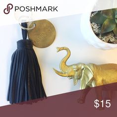 """Giant Tassel Keychain • Black Tassels are the new fringe. Perfect for holiday 2016...makes a great gift for your bestie or PFF! Measures approximately 7"""" long. Faux leather material. Gold feminist keychain not included. Accessories Key & Card Holders"""