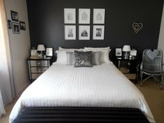 1000 images about my bedroom makeover on pinterest for Black feature wall bedroom ideas