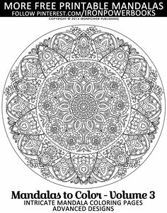 Free Printable Mandala Coloring Pages | Please use freely for personal non-commercial use | Summer Indoor Activities for Kids | | It will be awesome to share your colored works with us! Follow @ironpowerbooks for more free Coloring Pages everyda