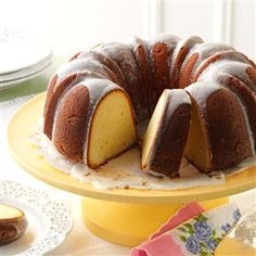 7UP Pound Cake Recipe -My grandmother gave me my first cake recipe—a pound cake using 7UP—and her grandmother gave it to her. On top of being delicious, it represents family tradition, connection and love. —Marsha Davis, Desert Hot Springs, California
