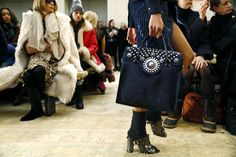 East meets West: Chelsea-girl handbag silhouettes with Marrakech-inspired embellishments   Tory Burch Fall 2015