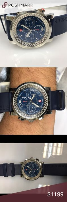Women's watch This is display model of Michele chronograph women's watch. Comes with original box.  And 6 months warranty by chronoarc. Adjustable wrist fit watch is so beautiful. Have diamonds non bezel. Michele Accessories Watches