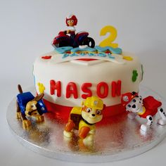 Paw Patrol themed birthday cake