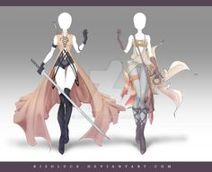 (OPEN) Adoptable Outfit Auction 168-169 by Risoluce on DeviantArt