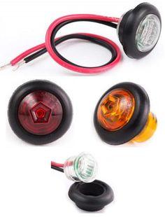 "0.75"" Side Marker and Clearance Round Sealed LED Light  Round Style Side Marker and Clearance light. Lens is made of poly carbonate for extra durability. Available in Red, Amber, or Clear. Ideal for cars, buses, tow trucks, work vehicles, big rigs, transportation vehicles, public work vehicles, government work vehicles, or anything else in need of this style of light. Operates on 10-30 volts. DOT and Emark certified to ensure that your replacements are compliant."