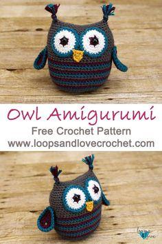 Mesmerizing Crochet an Amigurumi Rabbit Ideas. Lovely Crochet an Amigurumi Rabbit Ideas. Owl Crochet Patterns, Crochet Owls, Owl Patterns, Crochet Patterns For Beginners, Love Crochet, Amigurumi Patterns, Crochet Designs, Crochet Yarn, Crochet Hearts