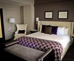 Beau Master Bedroom Colour Ideas Eggplant. Silver And Gunmetal Gray Look Fab  Maroon Bedroom, Burgundy