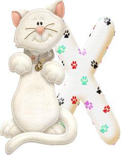 Alfabeto con gatito....X.png (321×411)