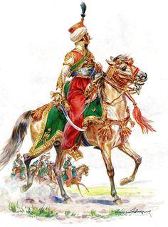 1812 Guerra de independencia. Mameluco al servicio del ejército francés