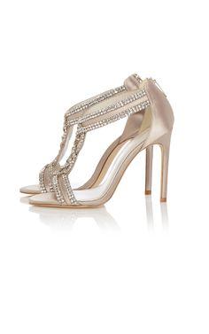Crystal T-bar sandal | Luxury Women's embellished | Karen Millen