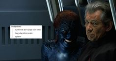 Magneto & Mystique + text post meme