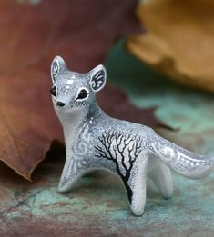 Wolf Figurine for shelf and office table decoration by Evgeny Hontor. Wolf Totem Figurine, Paintable Animal Sculpture Gothic Decor Wolf Art Howling Wolf Figures polymer clay animals, velvet clay, resin casting