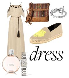 """""""Off The Shoulder Dress"""" by andreamartin24601 on Polyvore featuring Rachel Zoe, Kenzo, American West, Chanel and Longines"""