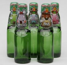Cute Taiwanese Marble Soda (ice cream flavored) bottles.
