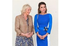 The Duchess of Cornwall and Prince Charles met with Queen Rania of Jordan during the Royal couple's tour of the Middle East this week. The British Royals are on the first leg of a tour taking in Qatar, Saudia Arabia and Oman.