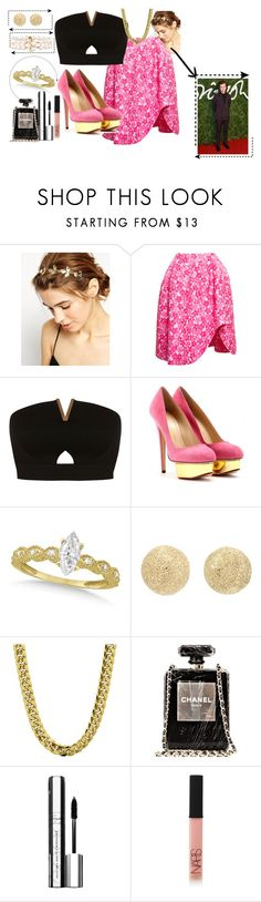 """""""Sin título #664"""" by brenda-199 ❤ liked on Polyvore featuring ASOS, Simone Rocha, Miss Selfridge, Charlotte Olympia, Allurez, Carolina Bucci, Chanel, By Terry and NARS Cosmetics"""