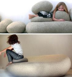 would be great in a learning environment Boulder Rock, Cushions, Pillows, Learning Environments, Livingston, Proprioceptive Activities, Bean Bag Chair, Lounge, Class Room