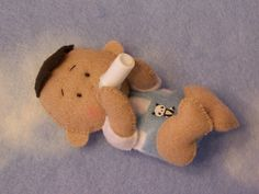 Carlos Mini Felt Baby | Flickr - Photo Sharing!  FOR HIS QUIET BOOK