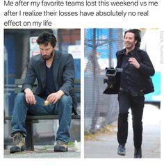 Keanu Reeves Meme, Keanu Reeves John Wick, Wtf Funny, Funny Memes, Hilarious, Funny Things, Funny Stuff, Random Stuff, Ron Swanson