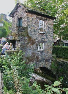 Little house built on a bridge, taken in Ambleside, UK