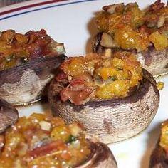 Champignons met bacon-cheddar vulling recept - Recepten van Allrecipes
