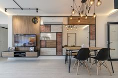 This cafe-inspired HDB flat celebrates good coffee and the homeowners' worldly adventures with a charming and laid-back style, courtesy of interior designer Alson Tan and his team from Couple Abode. Asian Interior Design, Laid Back Style, Inspired Homes, Contemporary, Modern, Relax, Couple, Wall, Interiors