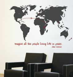 mia&co World Map Giant Transfer Wall Decals - Wall Sticker, Mural, & Decal Designs at Wall Sticker Outlet