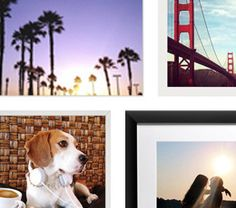 Different mosaic photo print framing options available