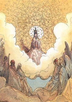 """Page from """"La Divina Commedia. Paradiso"""" by Jean Giraud (Moebius) (1999)"""
