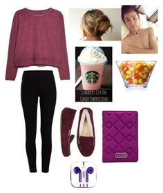 """""""Lazy day with Carter"""" by leila-hussain ❤ liked on Polyvore featuring MANGO, Pieces, Cotton Candy, UGG Australia, Marc by Marc Jacobs and PhunkeeTree"""