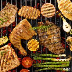 ¡A la plancha o a la parrilla! #BBQ #Barbacoa #vegetables #meat
