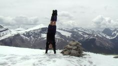 hiking fitness - Handstand on Mt. Remus by Rick McCharles/Flickr