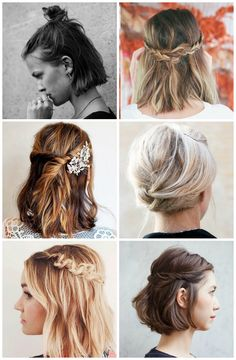 Fun styles for should length hair.