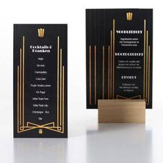 Set van 5 menukaarten - Roaring Twenties - Beaublue - 1