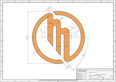 학습도면 > 2D 연습도면 > 오토캐드 연습도면 - 891 : 네이버 블로그 Interesting Drawings, Cad Cam, 3d Drawings, Logo Concept, Technical Drawing, Autocad, Letters, Graphic Design, Creative