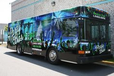 Bus advertisement sitting illusion httparcreactionspaper rent our south beach limo bus for your birthday homecoming prom bachelorparty colourmoves