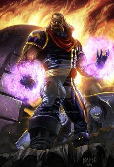 X-Men: Bishop by Ryan Pasibe (Marvel comics) Comic Book Characters, Comic Book Heroes, Marvel Characters, Comic Character, Comic Books Art, Comic Art, Book Art, Ms Marvel, Marvel Comics Art