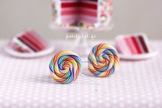 Hey, I found this really awesome Etsy listing at https://www.etsy.com/listing/58285013/rainbow-lollipop-earrings-candy