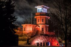 Oulu castle in red light -Café Tähtitorni - Oulu, Finland. Photo by Markku Liedes -- National Geographic Your Shot