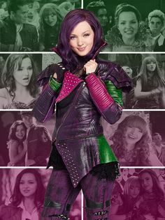 """racetrackshiggins: """" Descendants: Mal, daughter of Maleficent """"My heart is telling me that we are not our parents. Dove Cameron Descendants, Descendants Wicked World, Descendants Characters, Disney Channel Descendants, Disney Descendants 3, Descendants Costumes, Zombie Disney, Cameron Boyce, Mal And Evie"""