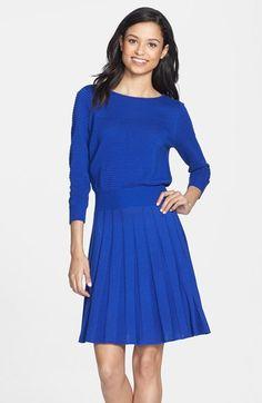 Eliza J Knit Blouson Dress $86 #KateMiddleton #Saloni
