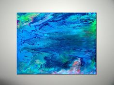 Blue abstract art - Blue abstract painting - Modern Painting - Blue office decor - Modern Decor - Contemporary decor - Purple abstract decor - pinned by pin4etsy.com
