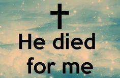 Leef je geloof: Jezus stierf voor mij