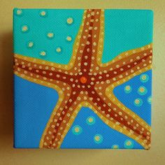 Starfish Mini Canvas Wall Decor by TheCoastalSoul on Etsy, $30.00