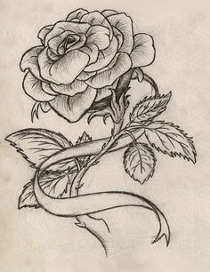 this is what i want with a yellow rose though and the ribbon to be a breast cancer ribbon and be on my left side of my hip bone on a tilted angle